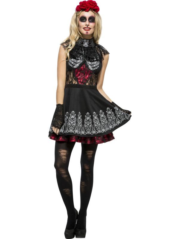 Signore TENTATRICE GOTICA parrucca per Halloween Seduttrice Costume