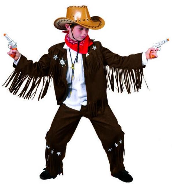 guarda bene le scarpe in vendita brillantezza del colore fornire un'ampia selezione di Costume Cowboy con frange Bimbo - taglia 128 cm