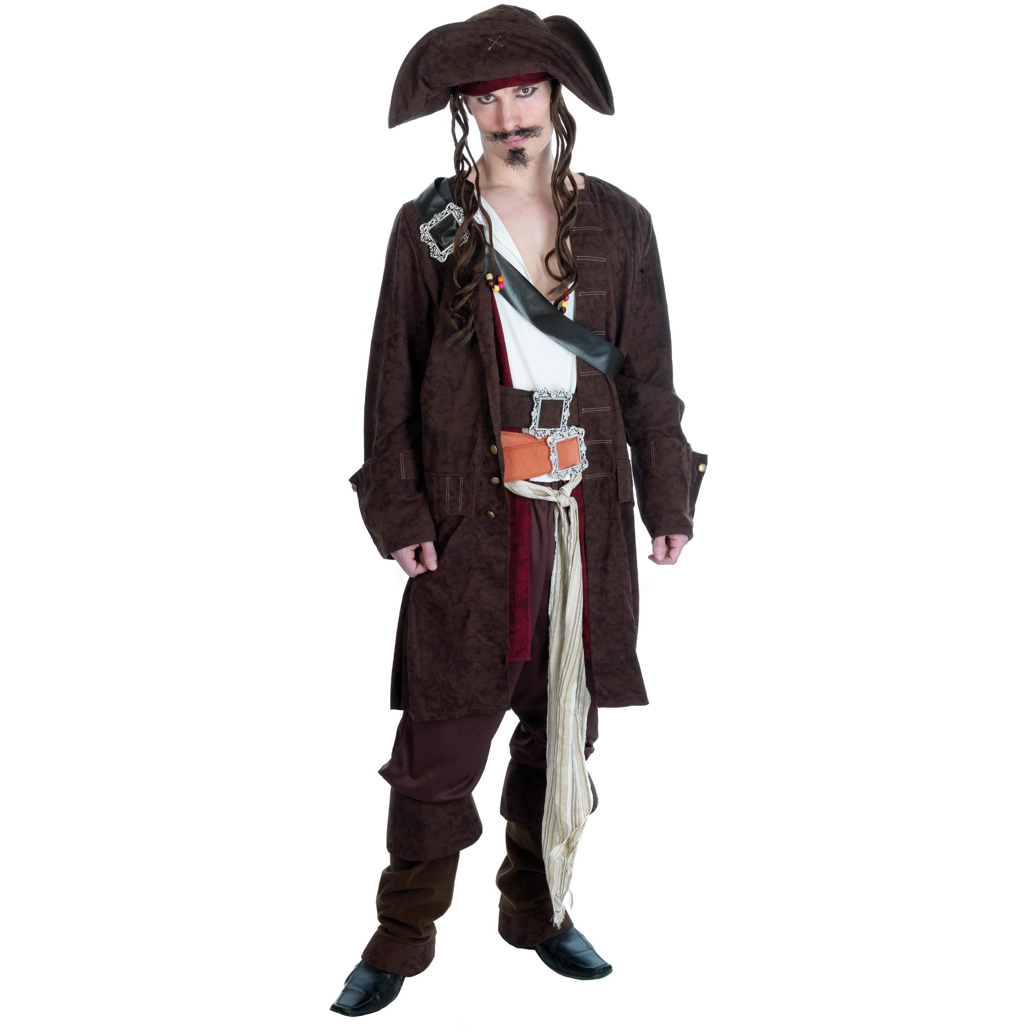 Costume capitan jack sparrow pirati dei caraibi pirata