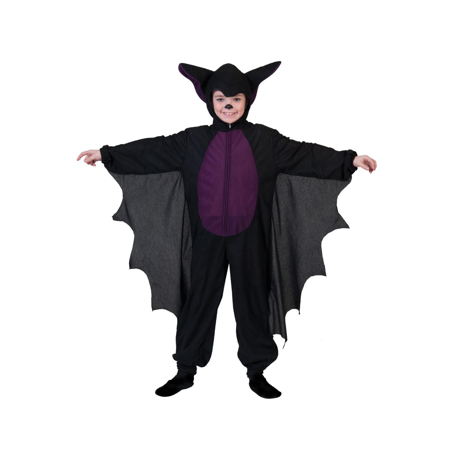 vendibile online qui ma non volgare Costume Pipistrello animale nero/viola in peluches