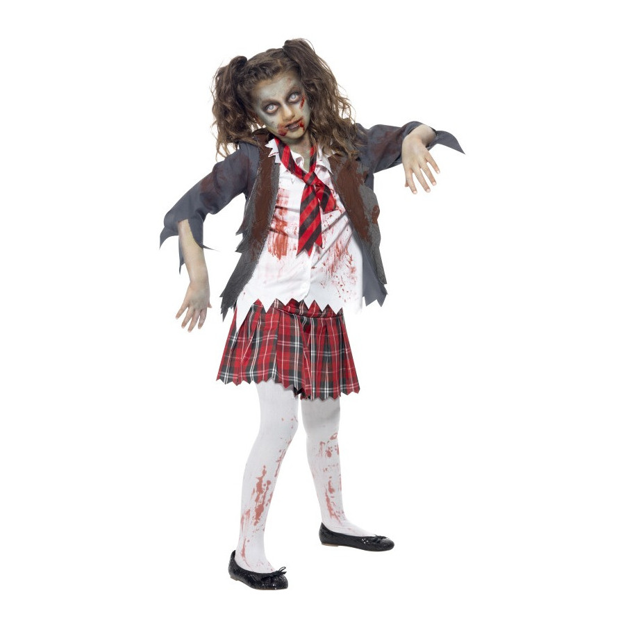 Vestiti Halloween 12 Anni.Costume Ragazza Zombie Taglia 12 Anni Shop Magic Games Party
