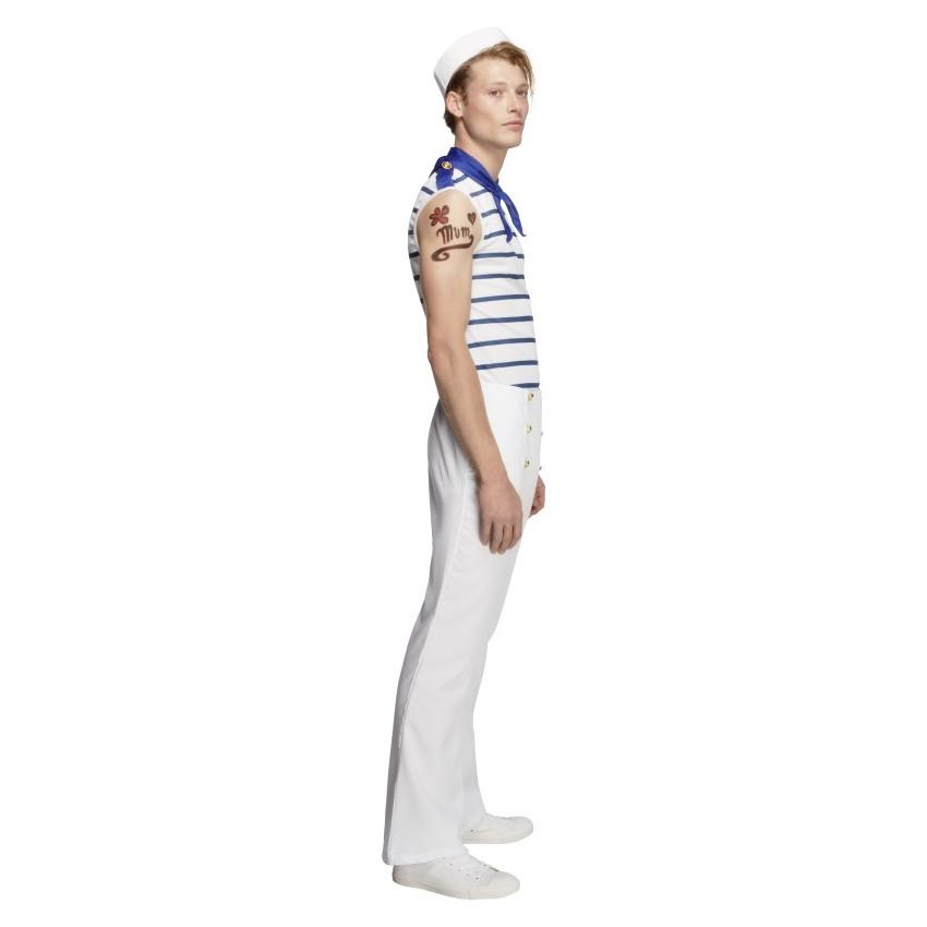 con parte superiore pantaloni e sciarpa SMIFFYS Costume Fever da marinaio francese