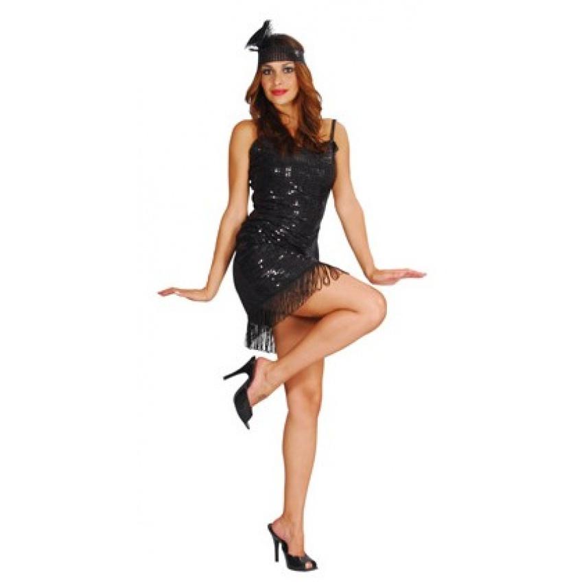 aebe227450e0 Costume Charleston anni 30 Nero Basic Donna | Shop Magic Games Party