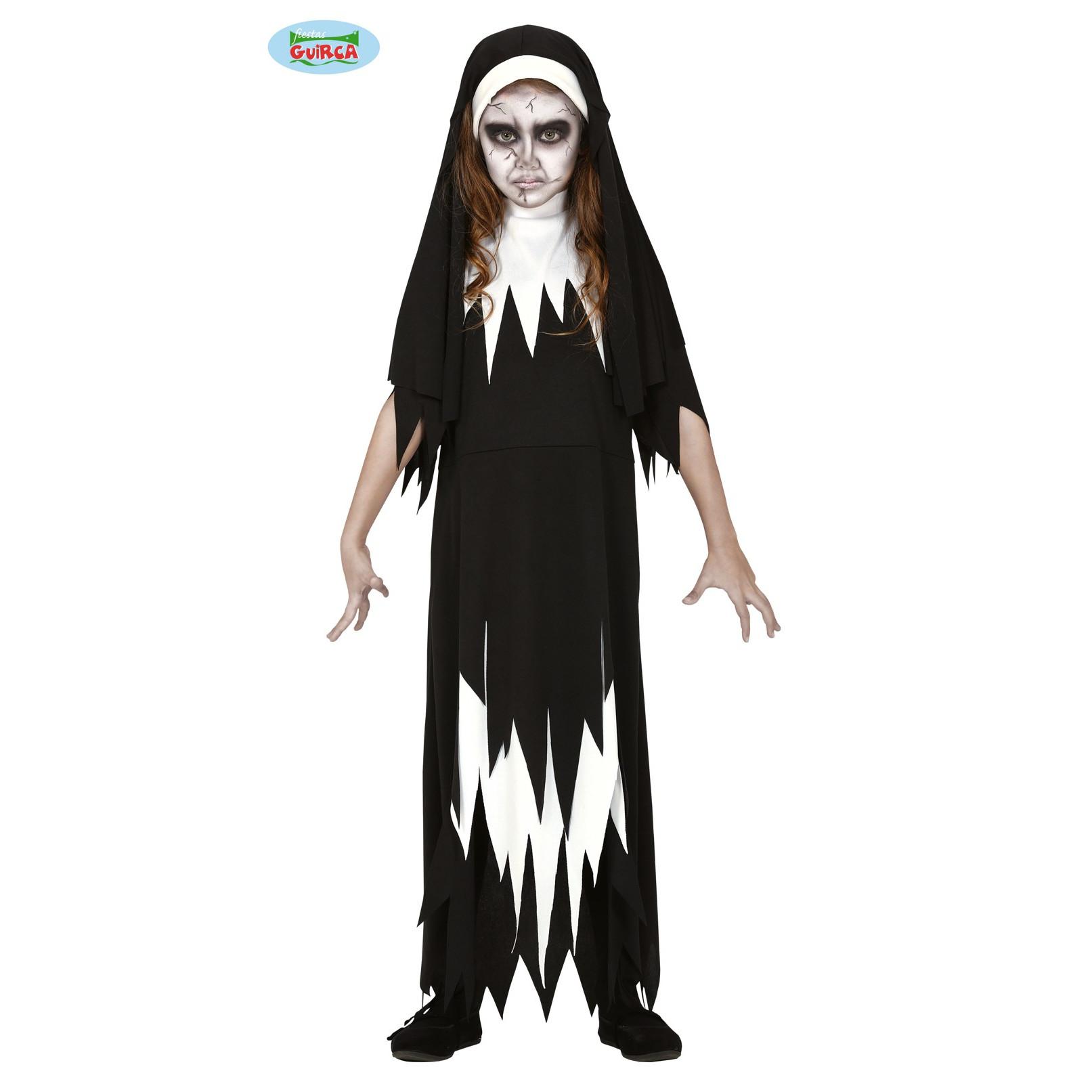 vendita calda genuina nuovo design retrò Costume suora The Nun film bimba – taglia 7/9 anni