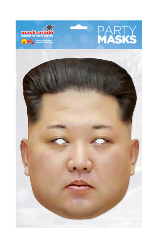 Maschera Kim Jong Un 3D cartonicno