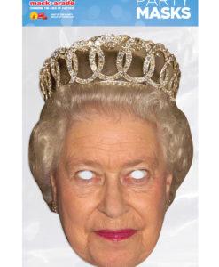 Maschera Regina Elisabetta II 3D cartonicno
